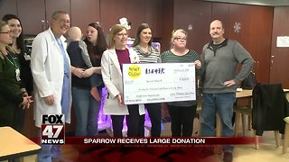 Sparrow Hospital receives large donation