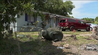 Car hits home in Fort Myers