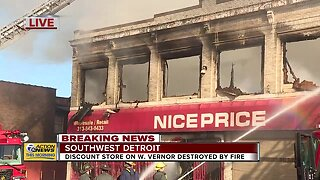 Discount Store in Detroit Destroyed By Fire