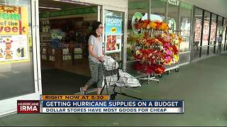 How to get hurricane supplies on a budget