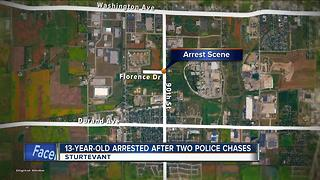 13-year-old boy accused of leading police on 2 chases - Video