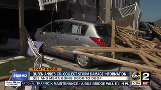 Queen Anne's County to collect storm damage information following tornado - Video