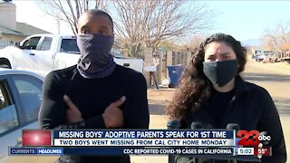 Adoptive parents of missing California City boys speak out