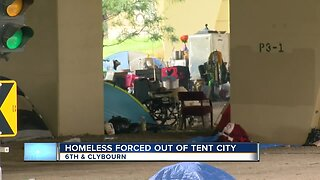 Milwaukee homeless population being forced out of 'tent city'