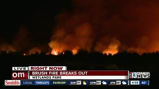 Fire at Wetlands Park in Henderson