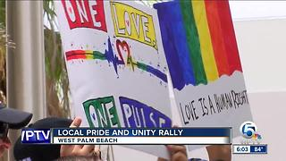 Local Pride and Unity rally held in West Palm Beach - Video
