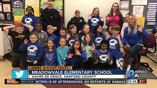 Good morning from students at Meadowvale Elementary School!