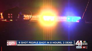 9 people shot, 2 killed in KC in span of 8 hours - Video