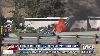 Fiery plane crash in California