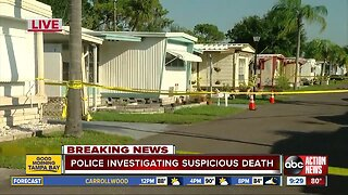 Police: Elderly woman's body found in St. Pete mobile home