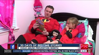 Organization using bedtime stories to combat child abuse
