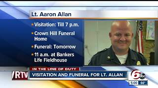 Community gathers at visitation for Southport Lt. Aaron Allan - Video