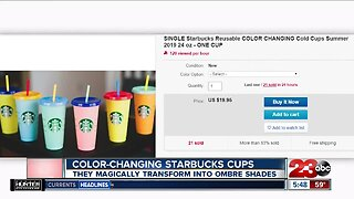 Color-changing Starbucks cups