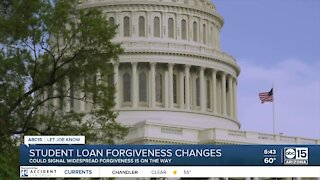 Student loan forgiveness changes