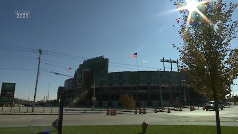 Message of unity flown over Lambeau Field
