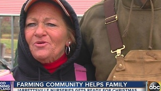 Farming community helps family in Jarrettsville - Video