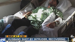 Long road to recovery for National city man shot by intruder - Video