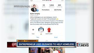 UNLV student helps homeless with his home business