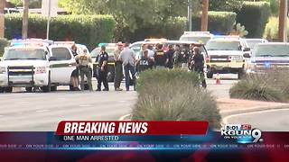 One suspect in custody, one still outstanding in shooting near Tucson airport