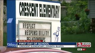 First day of school possible by town's fight - Video