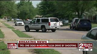 One dead in north Tulsa drive-by shooting