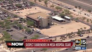 Shot fired near Banner Gateway hospital in Gilbert, one person in custody - Video