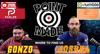 Where and HOW TO FIND US, POINT MADE, YOUTUBE, RUMBLE, CLAPPER AND PARLER, YES PARLER IS BACK