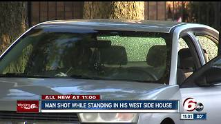 Man shot while standing in his house on Indy's West Side - Video