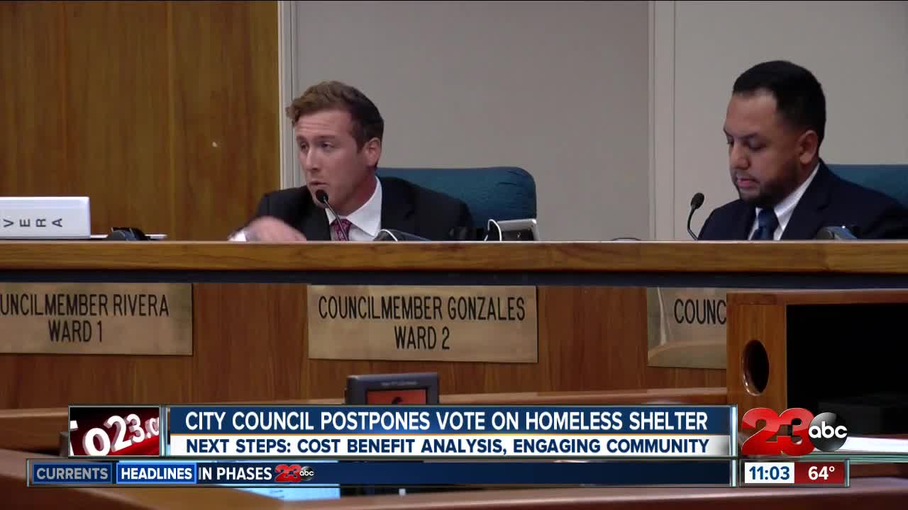 What's next for the city after council delays vote on homeless shelter?