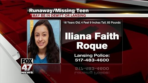 Missing: 16 Year Old Iliana Faith Roque