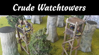 Building Crude Wooden Watchtowers