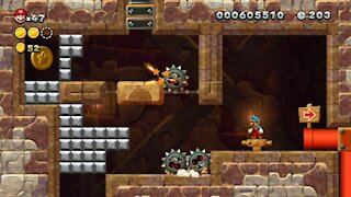 Layer-Cake Desert-Tower Stoneslide Tower (All Star Coins). Nintendo Switch New Super Mario U Deluxe