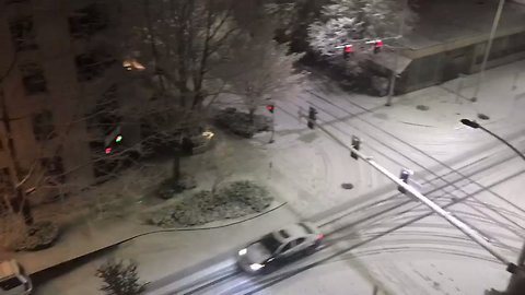 Belltown Blanketed in Snow As Seattle Hit With Rare Winter Storm