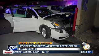 Pair arrested after chase ends in crash in Bay Terraces