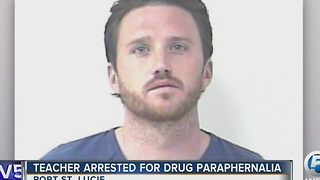 Teacher arrested for drug paraphernalia