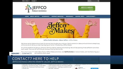 Jeffco Makes website offers things to make, bake and shake