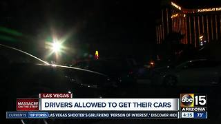 Drivers allowed to get their cars from Vegas shooting scene - Video