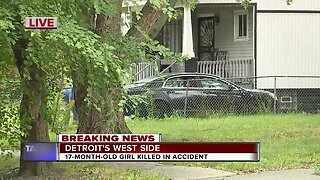 17-month-old girl killed in accident in Detroit