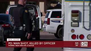 Man shot, killed by Phoenix officer