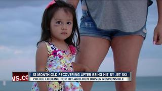 Child recovering after being hit by jet ski in Clearwater - Video