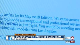 Makeup Artists Warns of Email Scam