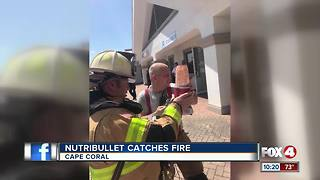 NutriBullet catches fire - Video