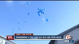 Balloon release held in memory of 2-year-old Indy boy who died after extensive abouse - Video