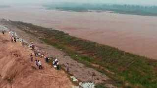 Drone Footage Shows Flood Rescue Efforts in Northeast China - Video