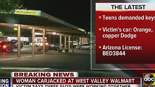 Woman's car stolen in Glendale parking lot - Video