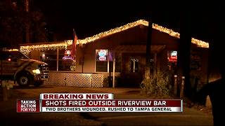 2 brothers shot outside Riverview bar after confrontation - Video
