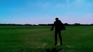 Real-life Iron Man flies at 30mph! - Video