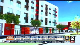 Construction begins for apartment community, shops in Towson - Video