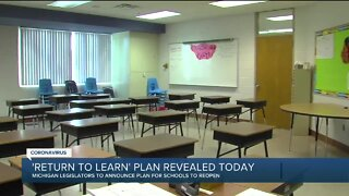 Michigan legislators to unveil 'Return to Learn' plan for students today