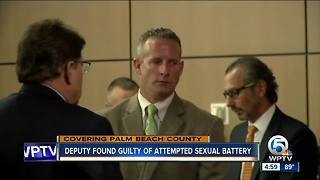 PBSO deputy found guilty of attempted sexual battery - Video